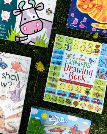 5 How to Draw Books for Kids that are on the grass.