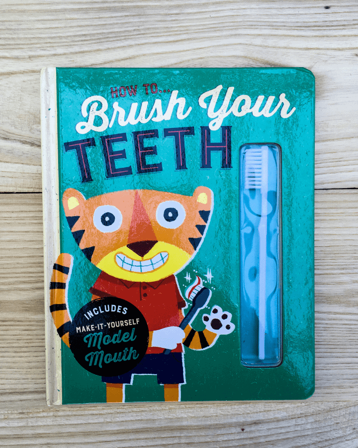 A children's board book about how to brush teeth.